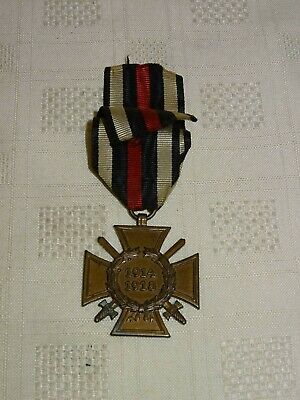 Collectable WW1 German Hindenburg Military 1914 1918 Medal Cross