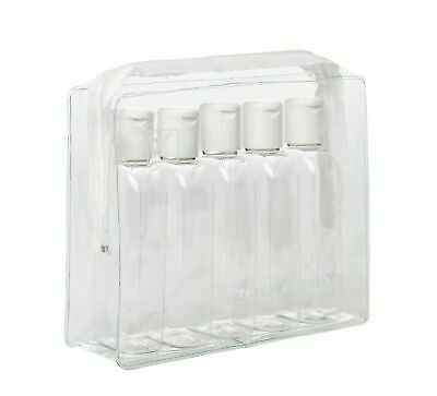 Travel Holiday Airport Security Approved Toiletry Wash Clear Bag 100ml Bottles