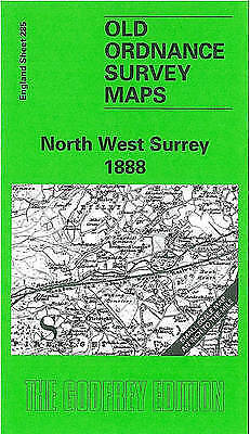 OLD ORDNANCE SURVEY MAP North West Surrey 1888: One Inch Map 285