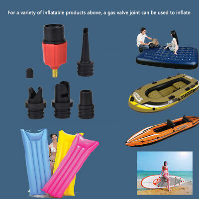 Kayak Inflatable Board Surfboard Sup Air Valve Paddle Pump 4 Type Nozzles Value