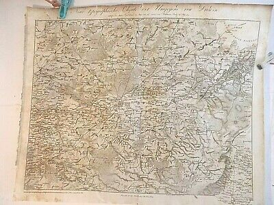 Dresden 1801-1924 Germany: Saxon-Austrian Army Map? Napoleonic  Period-Engraved