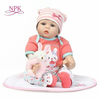 NPK  new simulation reborn baby doll soft vinyl silicone touch creative gift for