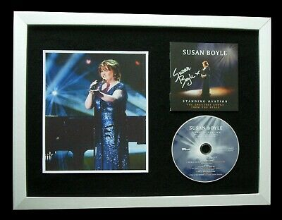 Susan Boyle+Signed+Framed+Standing Ovation=100% Authentic+Express Global Ship!!