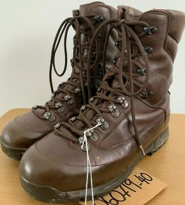 9e452bb4f KARRIMOR SF Brown Army Boots GORETEX COLD Wet WEATHER Leather 9M UK  060719-40
