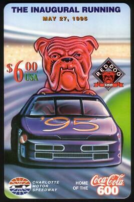 $6. Red Dog 300 Inaugural Running: 05/27/95 Coke 600 Logo JUMBO TEST Phone Card