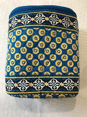 Vera Bradley Thermal Insulated Lunch Bag Can Cooler Baby Bottle Holder Blu&yello