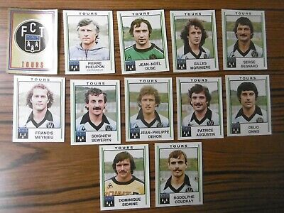 Lot de 12 stickers - F.C  TOURS - PANINI FOOTBALL 81