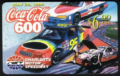 $6. Coca-Cola 600: May 28, 1995 (Coke Logo) Charlotte Motor Speedway Phone Card