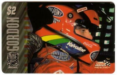 PhonePak 1996 $2. Jeff Gordon (DuPont, Coke Coca-Cola, Valvoline) Phone Card