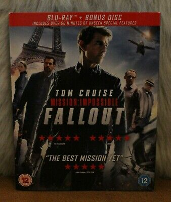 Blu Ray Mission: Impossible - Fallout Inc Bonus Disc Sleeve Edition