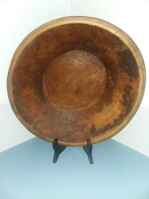 Old Farm House Dough Bowl, Hand Carved, Primitive Bowl with repairs,wood bowl