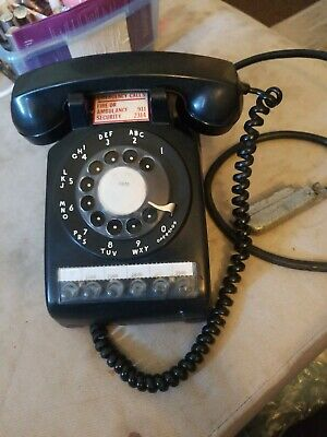 1958 Bell System Western Electric Black Rotary Multiline Telephone 1958 working