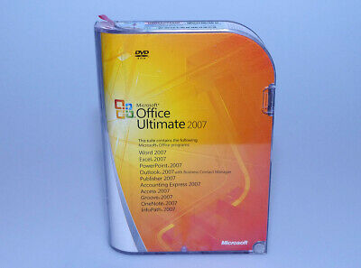 Microsoft Office Ultimate Pro 2007 GENUINE full retail ver 76H-00325 Win 7 8 10