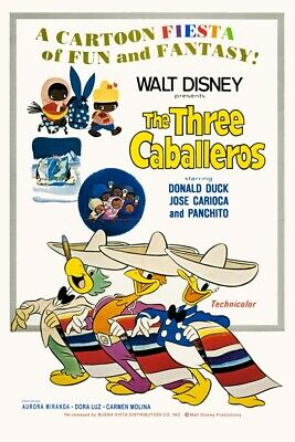 Disney's The Three Caballeros Version 2 - Collector Poster 4 Sizes (B2G1 Free!!)