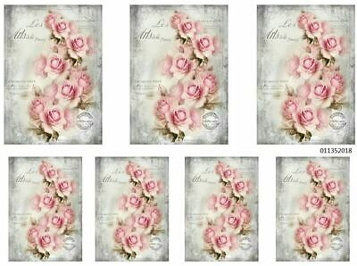 VinTaGe IMaGe FRenCh PaRiS CaBBaGe RoSeS PoST CaRdS ShaBby WaTerSLiDe DeCALs