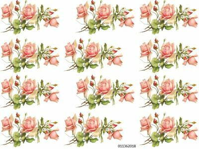 VinTaGe IMaGe PeaCh RoSe SpRaYs ShaBby WaTerSLiDe DeCALs