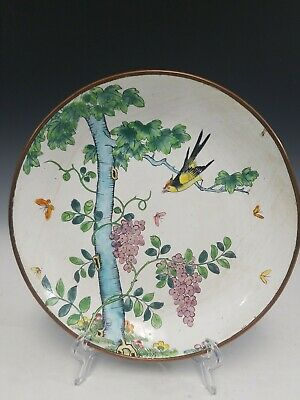 Chinese Antique Enamel On Copper Dish.
