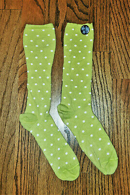 GUC Matilda Jane Girls Youth sz 2-4 (Shoe Size) Mustard Green/Yellow Socks