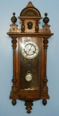 Antique Victorian Wall Clock Vienna Regulator Friedrich Mauthe Schwenningen