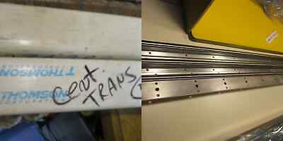 """Thomson 60 Case Shafting SRA-10 5/8"""" Carb Steel Linear Rail 48""""Aluminum Support"""