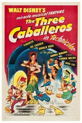Disney's The 3 Caballeros Version 1- Collector Poster  (B2G1 Free!!)