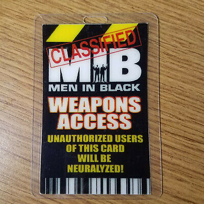 Men In Black ID Badge-Weapons Access costume prop cosplay
