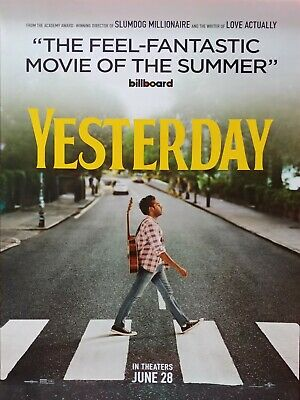 YESTERDAY (2019) Movie Poster 27x40 DS Authentic Teaser Version