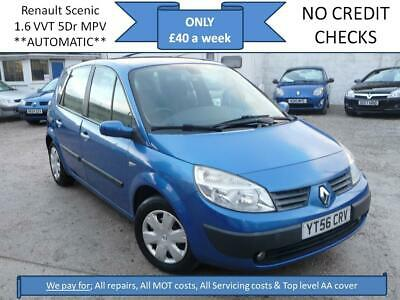 **£40 A WEEK** Renault Scenic 1.6 VVT Auto Oasis 5DR AUTOMATIC MPV 12M MOT EW CD