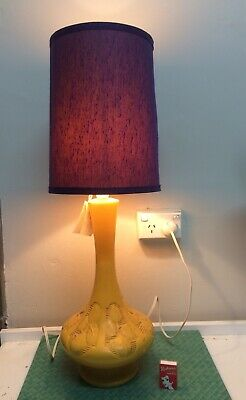 Original Vintage 60s 70s Lamp , Retro Table Lamp, Mid Century Lamp , Mustard