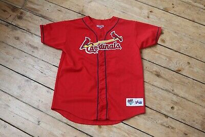 MLB St.Louis Cardinals Baseball Jersey Small Mens red Majestic Athletic McGwire