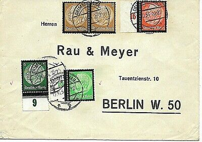 Germany:1934:Cover used in Berlin,Tied with Hindenberg,(Black Boarders),Stamps.
