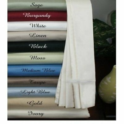 Superior 4 PCs Attached Water Bed Sheets 1000 TC Egyptian Cotton King Size