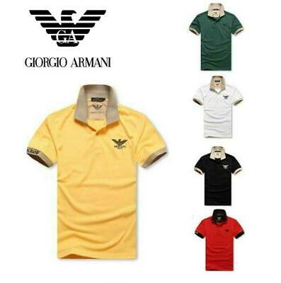 New Hot ARMANI11 POLO Men's Casual Shirt short Sleeve Shirts T-shirts size M~XXL