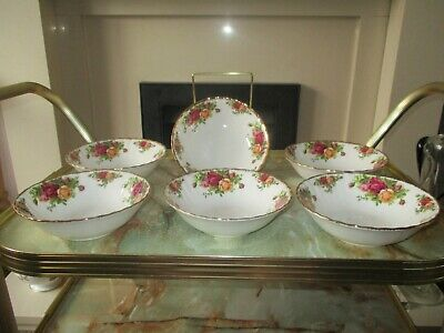Royal Albert Old Country Roses Cereal Bowls x 6
