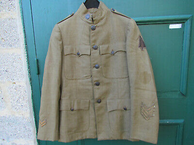 Uniforme Us 17/18 Veste Pantalon/Culotte Calot Troupe  Us1917/18 Original Ww1