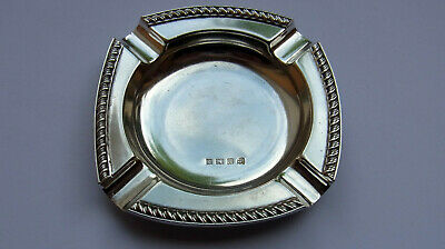 Antique Sterling Silver Ashtray - Charles S. Green - Birmingham 1965 - 39.3g