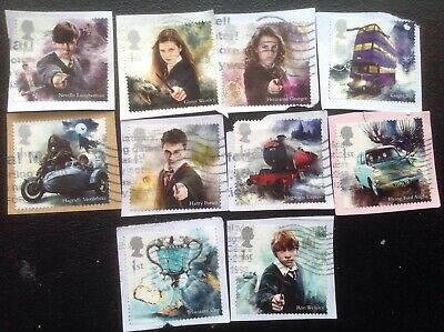 GB STAMPS 2018  Full set of HARRY POTTER Postally Fine Used Commemoratives