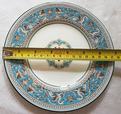 """Wedgwood Florentine Turquoise 7""""  Salad/ Dessert Plates 6 Off Still In Wrappers"""