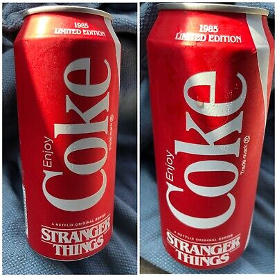 2X Coca Cola 1985 Edition Stranger Things 16 Oz Can Limited edition New Unopened