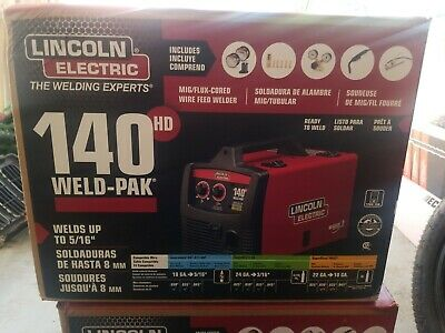 Lincoln Electric 140HD Weld Pak Mig Wire Feed Welder (K2514-1) New