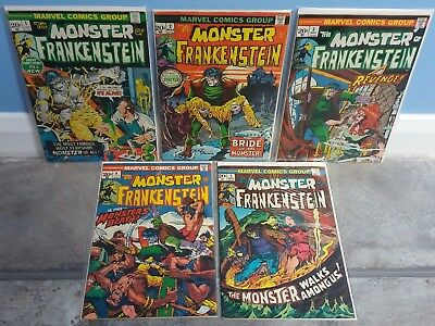 *SIGNED* The Monster Of Frankenstein #1 #2 #3 #4 #5. Mike Ploog 1st Print Comics