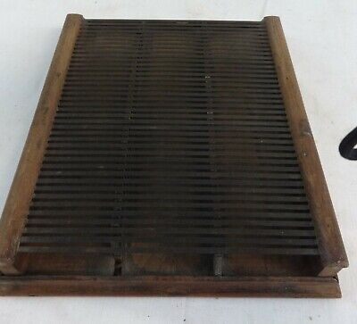 Antique Wood & Metal Shirt or Skirt Clothing Store Pleating Board