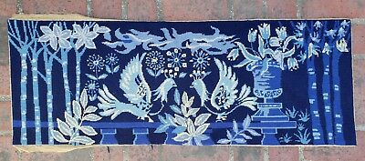 An Antique Needlepoint Tapestry with Doves