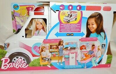 NEW Barbie MEDICAL CLINIC/AMBULANCE Playset (FRM19) w/Lights & Sounds - Age 3+