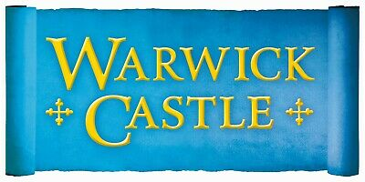 2 X WARWICK CASTLE Tickets - Pick Your Own Date .......
