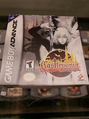 Castlevania:Aria of Sorrow for GBA, Complete in Box and Tested. mint condition.