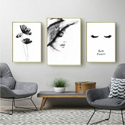 Wall Art Nordic Poster Minimalist Abstract Painting Black And White Posters And