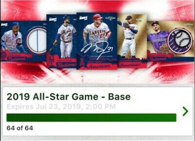 Topps Bunt 2019 All Star Game Base Complete Set 64 Cards