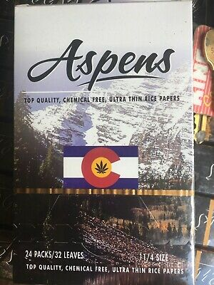 "ASPENS CO- CIGARETTE ROLLING PAPER 11/4"" (32mm) 24 PACKS FULL BOX) NEW"