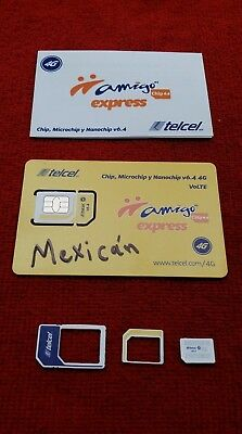 TELCEL SIM CARD for UNLIMITED calls/SMS within Canada, USA and